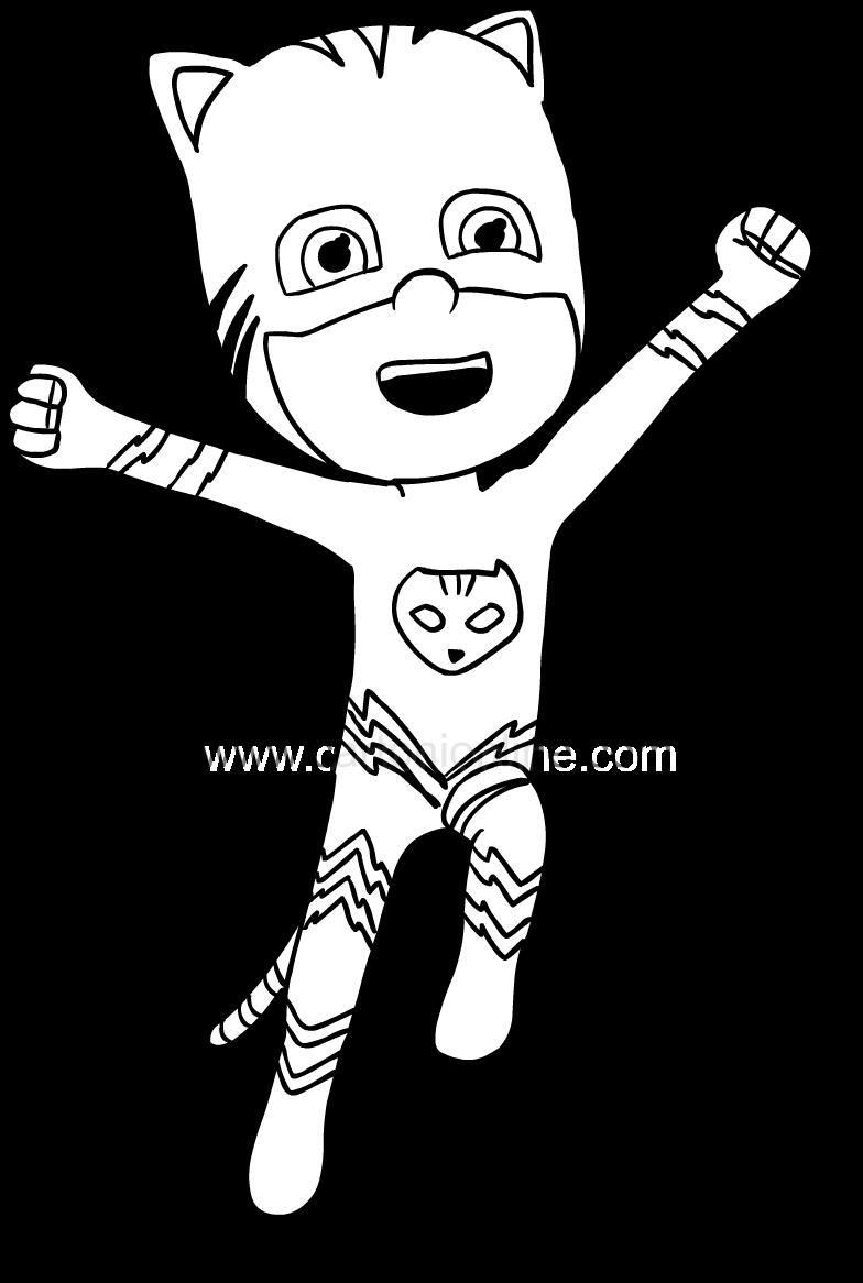 Coloriage de Superboy Pj Masks Catboy pour imprimer et colorier