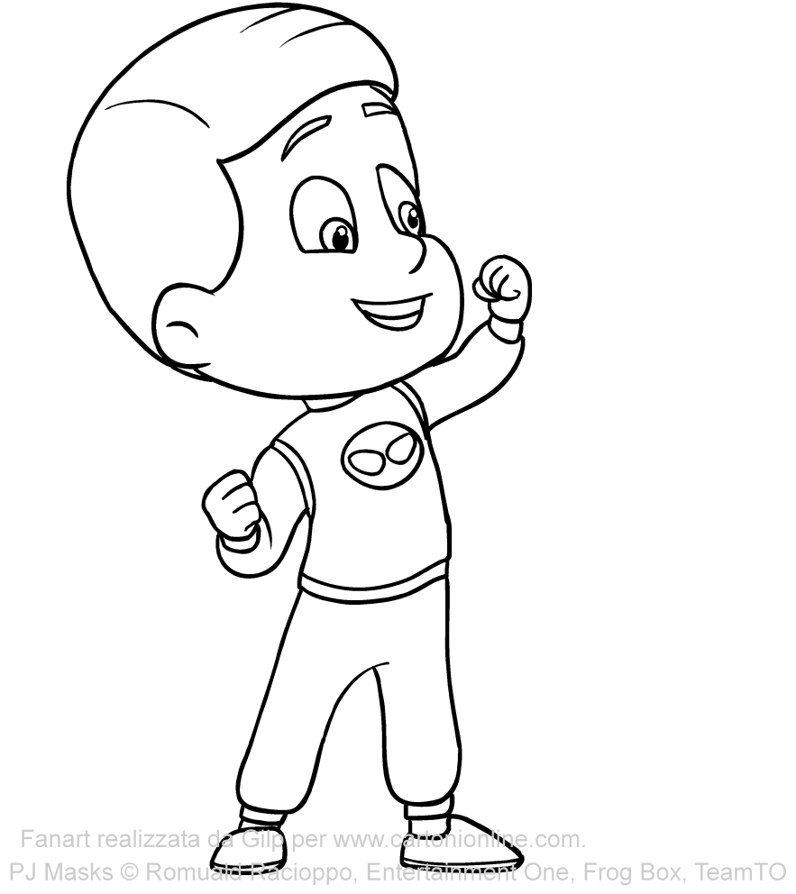 Disegno di greg dei pj masks superpigiamini da colorare for Pjmask da colorare