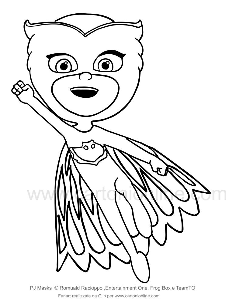 Dibujo de búho que destaca