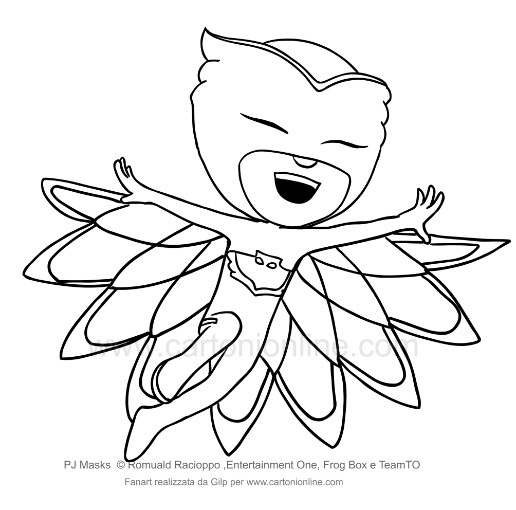 Disegno di gufetta dei pj masks superpigiamini da colorare for Pjmask da colorare
