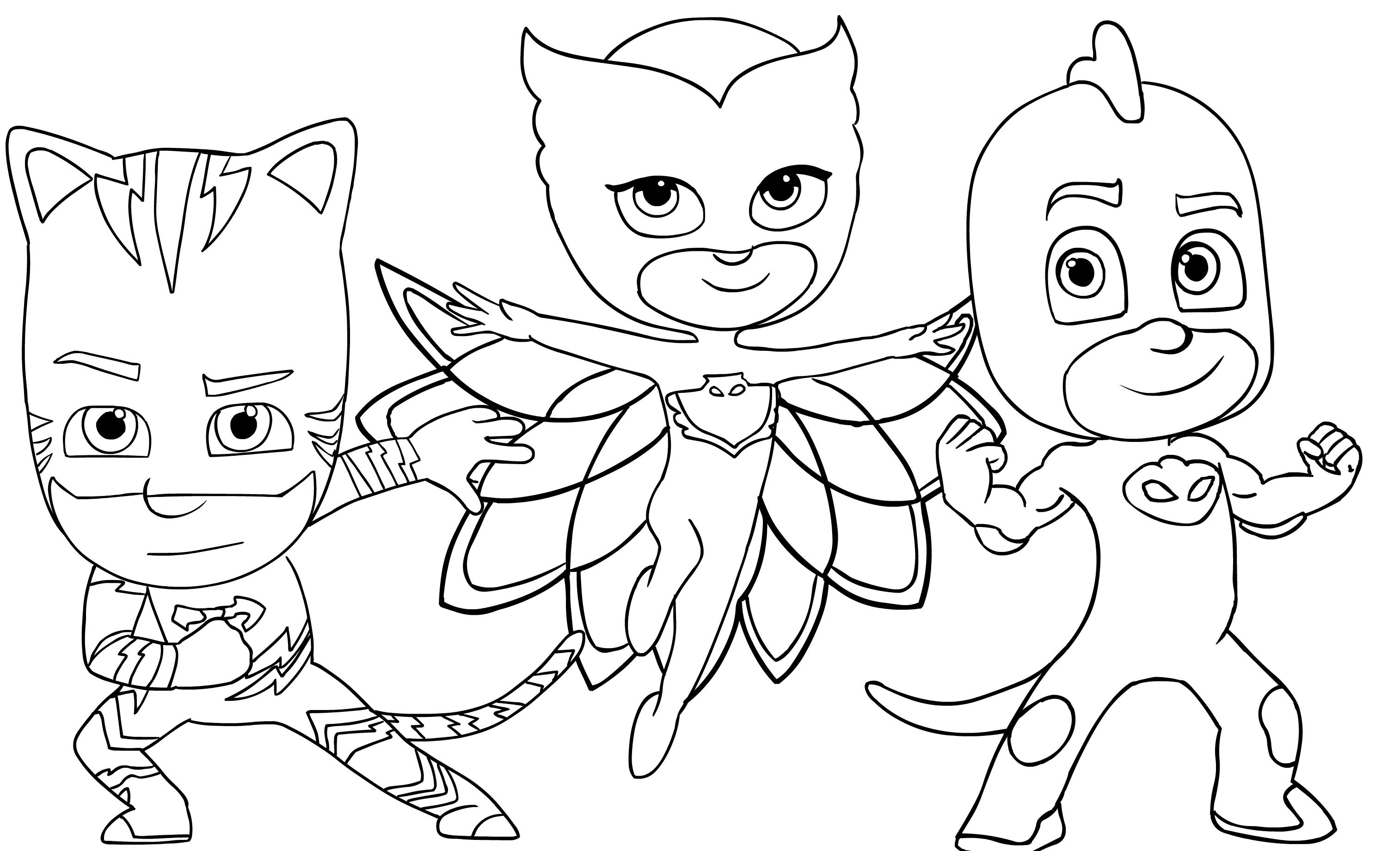 Dibujo 5 De Pj Masks Para Colorear