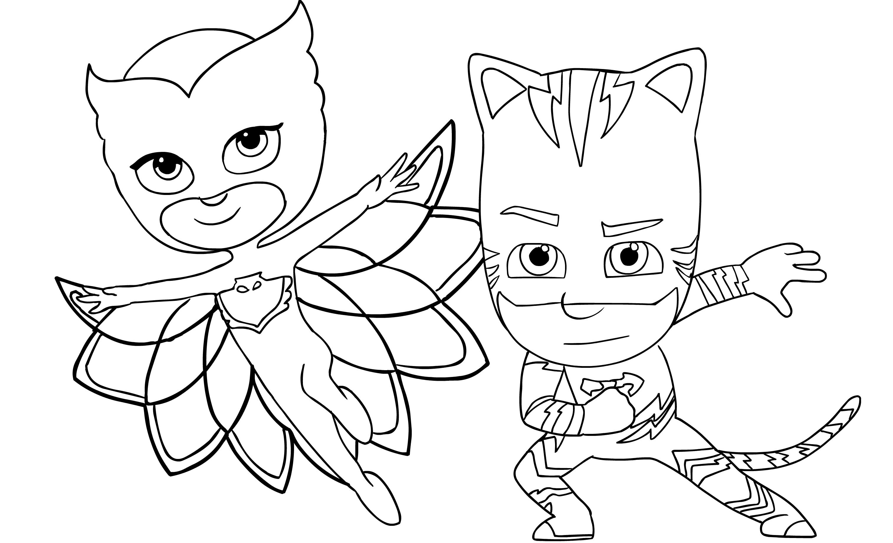 Pj Masks Coloring Page Drawing 6
