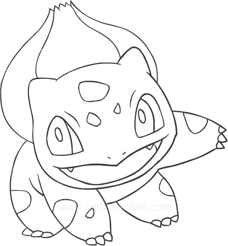 Disegno di bulbasaur dei pokemon da colorare for Immagini bulbasaur