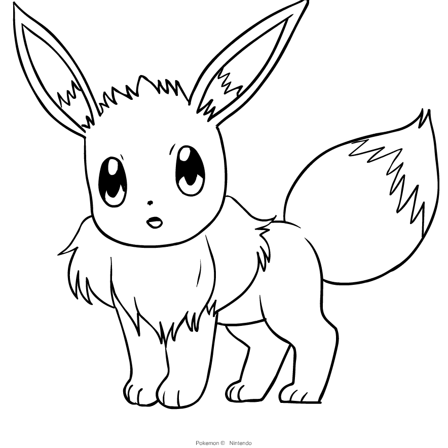 Eevee From Pokemon Coloring Page