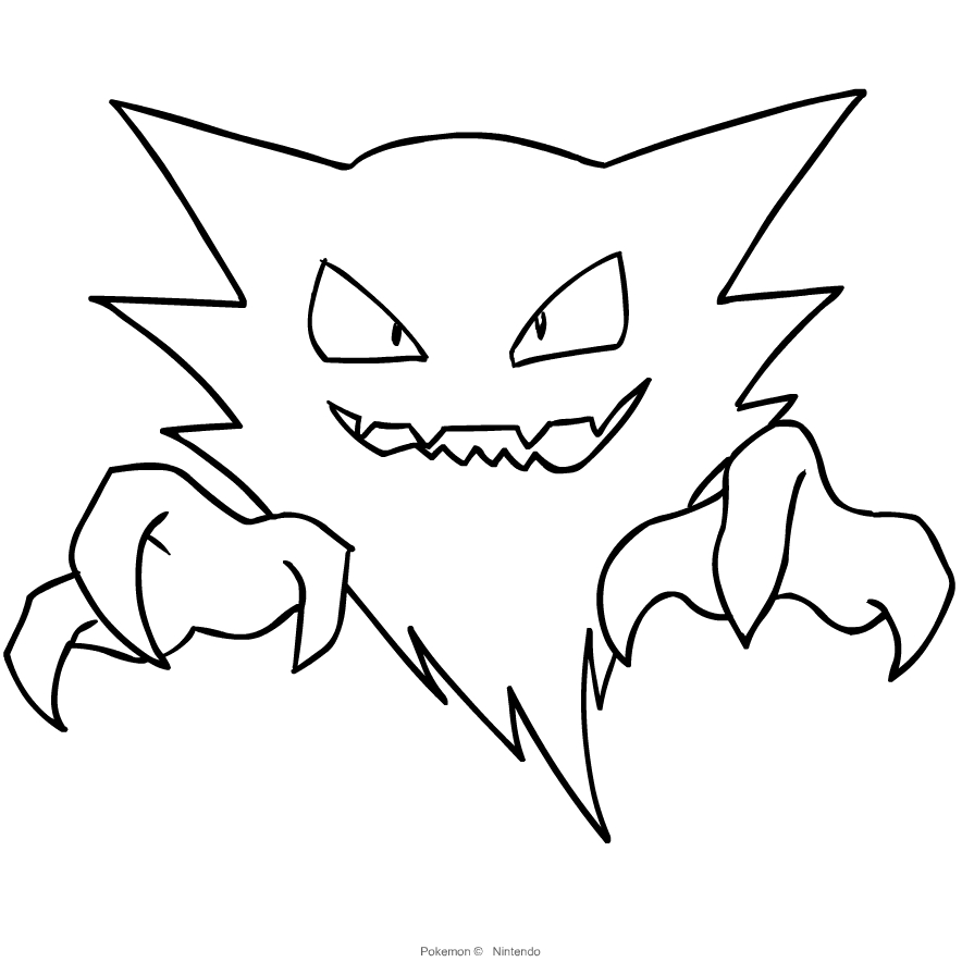 Haunter From Pokemon Coloring Page