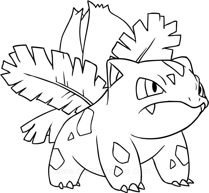Disegno Di Ivysaur Dei Pokemon Da Colorare