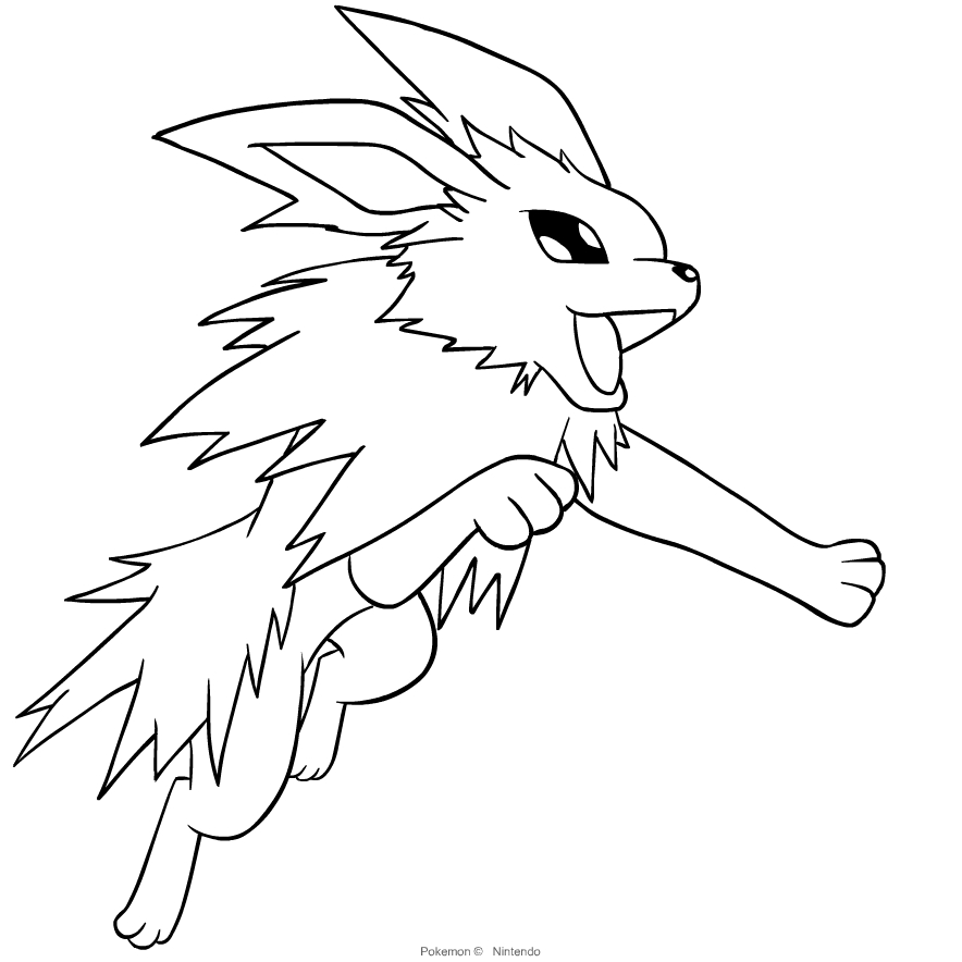 Jolteon From Pokemon Coloring Page