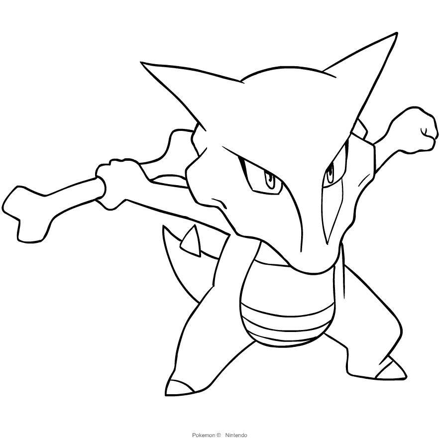 Kolorowanki Marowak Pokemon