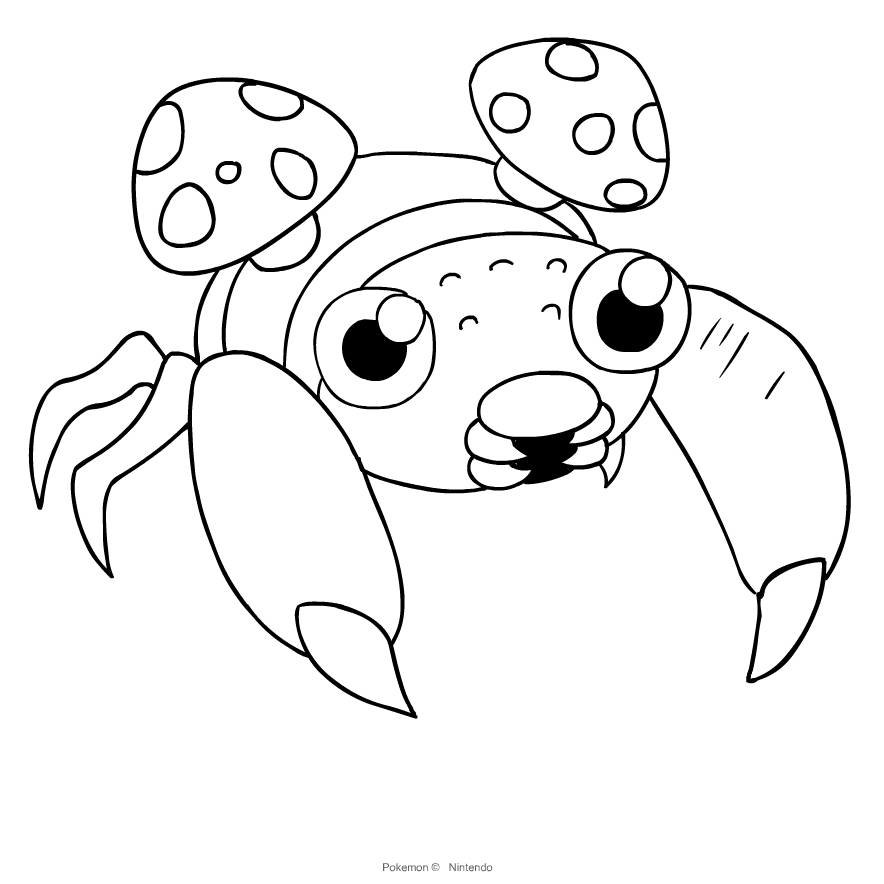 Paras From Pokemon Coloring Page