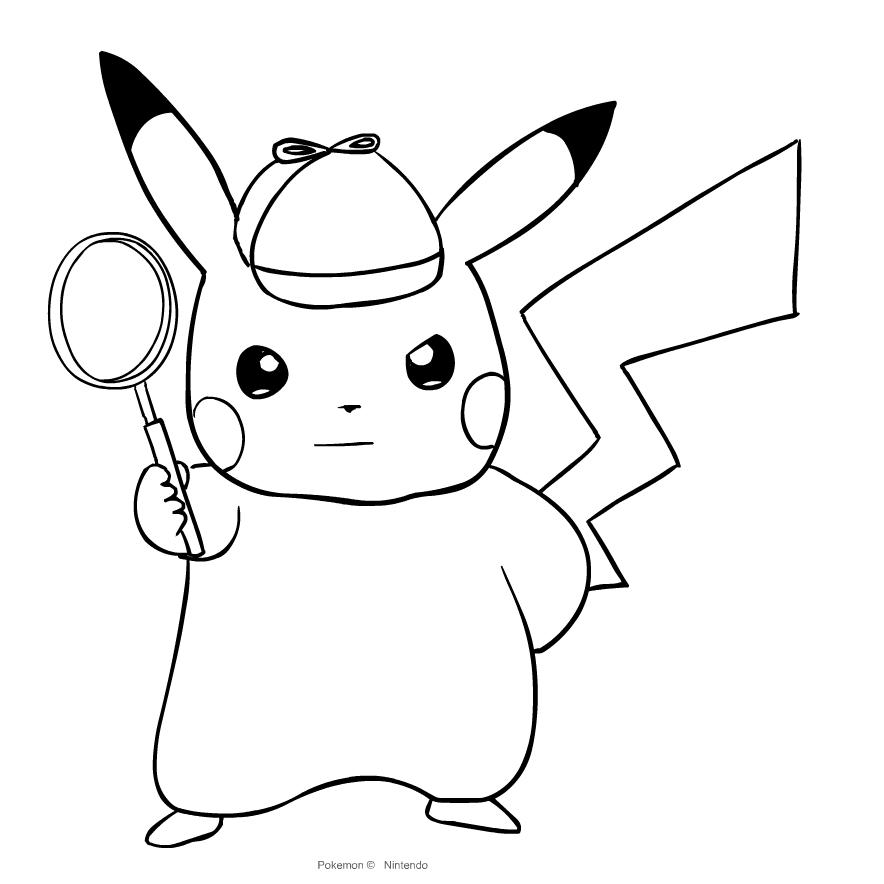 Dibujo De Pikachu De Pokemon Primera Generación Para Colorear