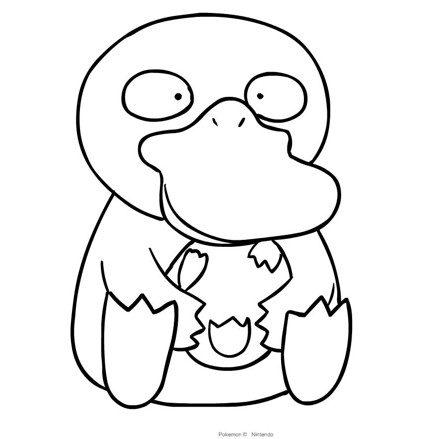 Dibujo de Psyduck de Pokemon para colorear