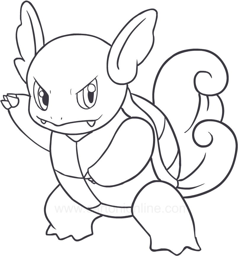 pokemon wartortle coloring pages - photo#19
