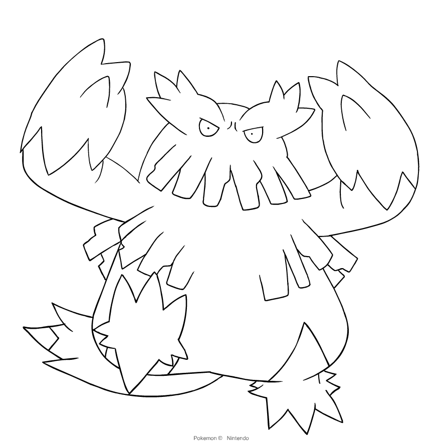 Abomasnow From The Fourth Generation Of The Pokemon Coloring