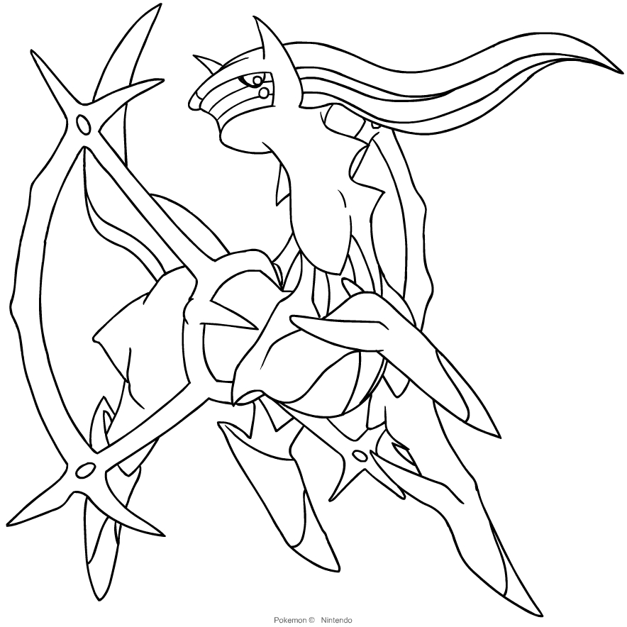 Pokemon Coloring Arceus - Hd Football