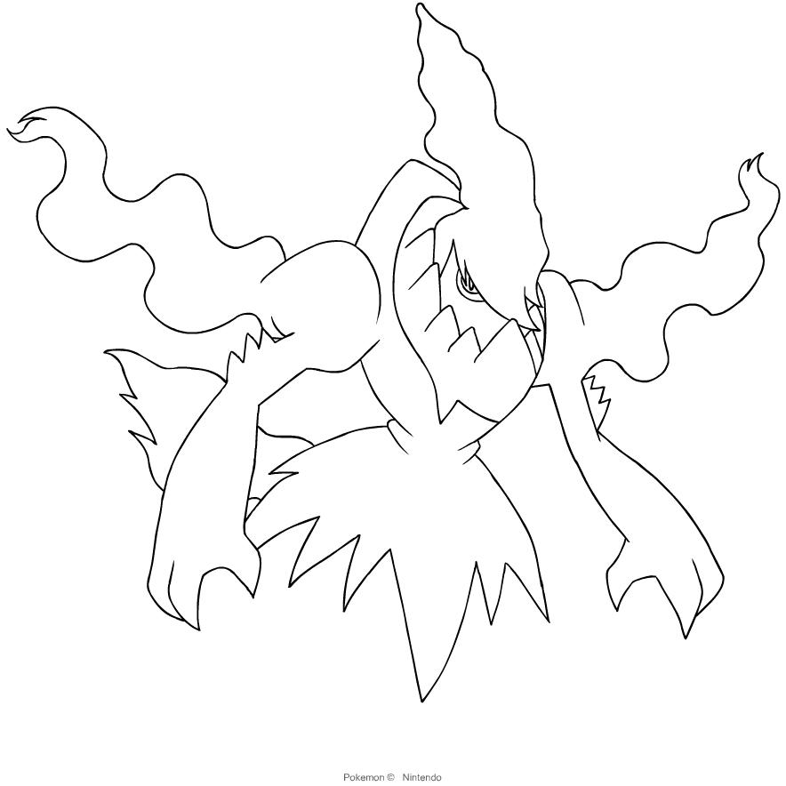 Disegni Da Colorare Pokemon Darkrai.Disegno Di Darkrai Dei Pokemon Di Quarta Generazione Da Colorare