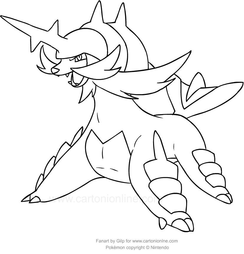 Disegno Di Samurott Dei Pokemon Da Colorare