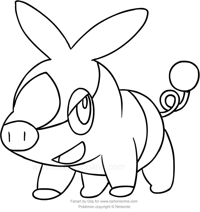 Disegno Di Tepig Dei Pokemon Da Colorare