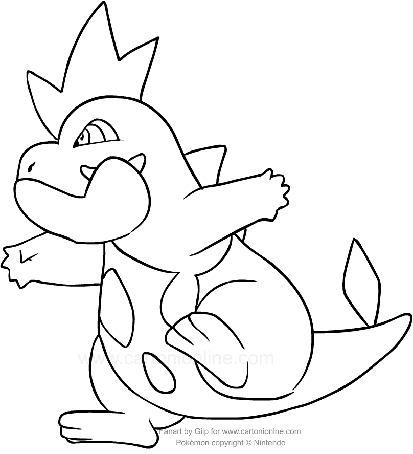 Disegno di croconaw dei pokemon da colorare for Pokemon da stampare e colorare