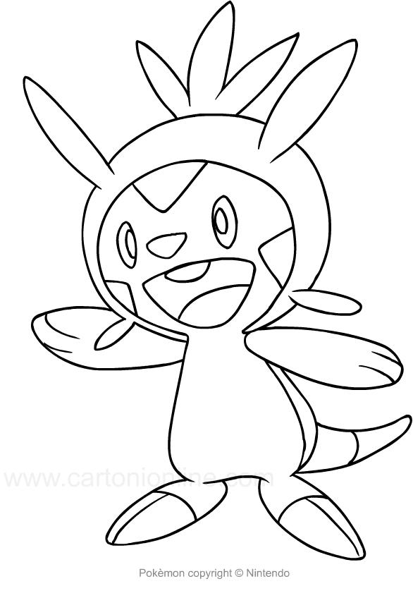 Disegno di Chespin dei Pokemon da colorare