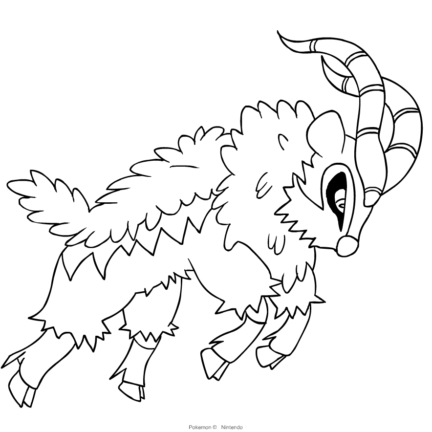 Desenho De Gogoat Dos Pokemon Sexta Geracao Para Colorir
