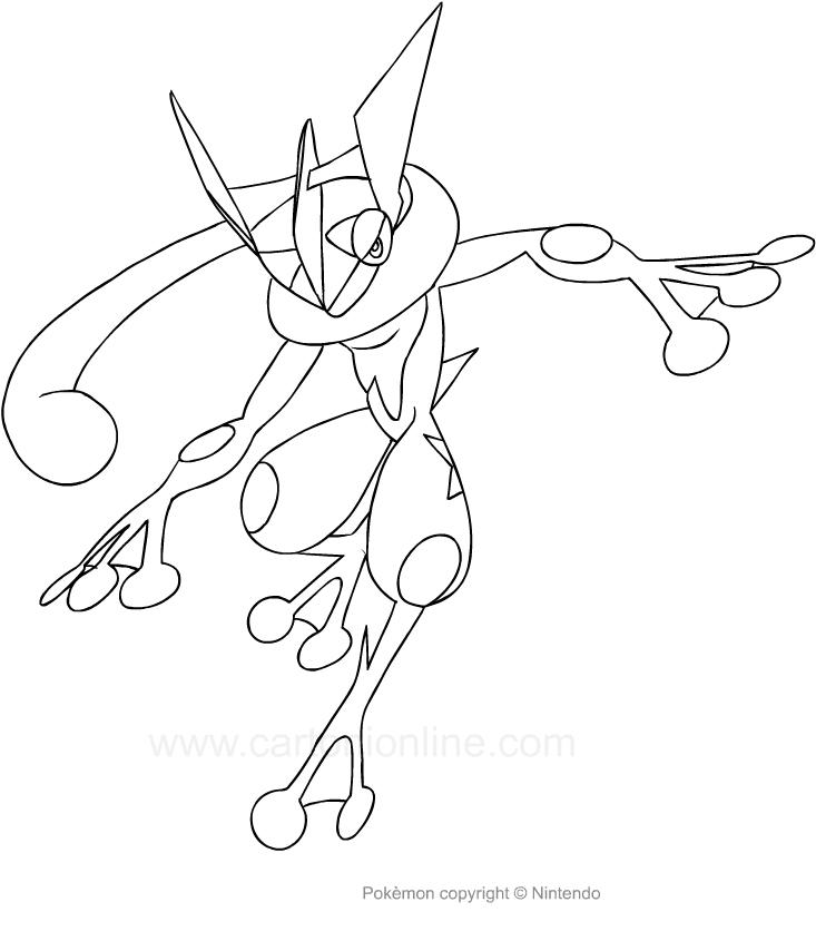 Disegno Di Greninja Dei Pokemon Da Colorare