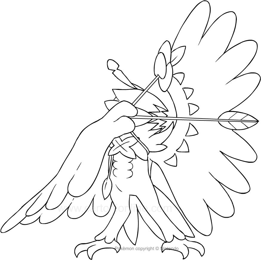 Disegno Di Decidueye Dei Pokemon Da Colorare