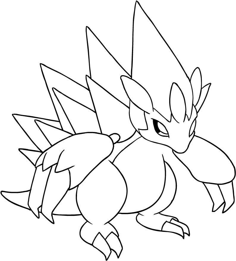 Disegno Di Alolan Sandslash Dei Pokemon Sole E Luna Da Colorare