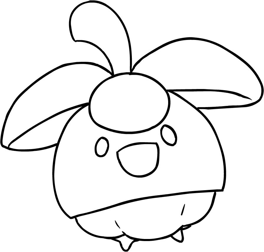 Disegno di bounsweet dei pokemon sole e luna da colorare for Immagini sole da colorare