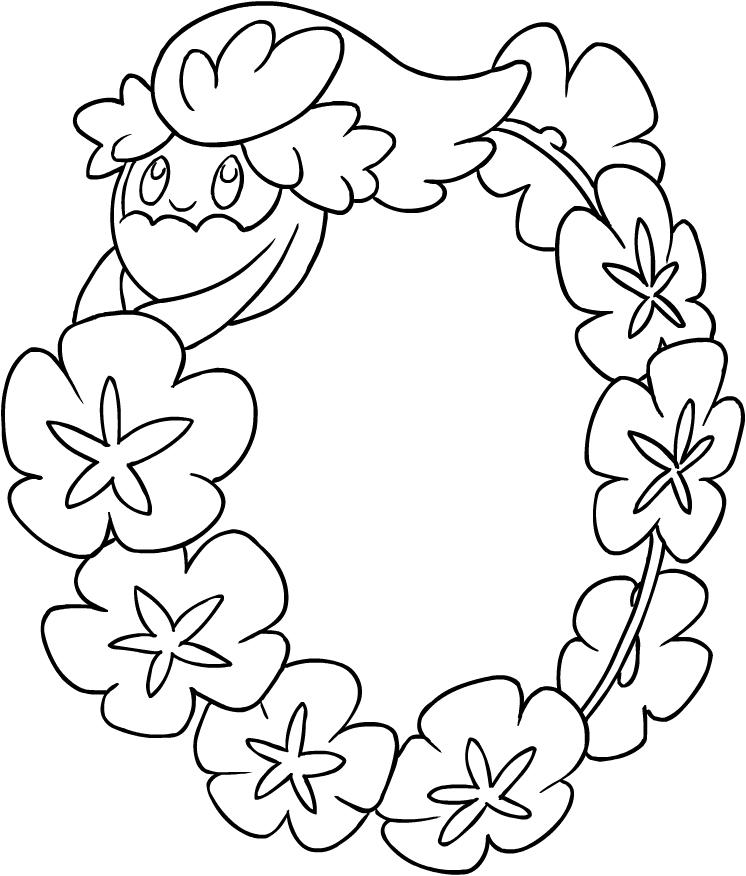 Disegno Di Comfey Dei Pokemon Sole E Luna Da Colorare