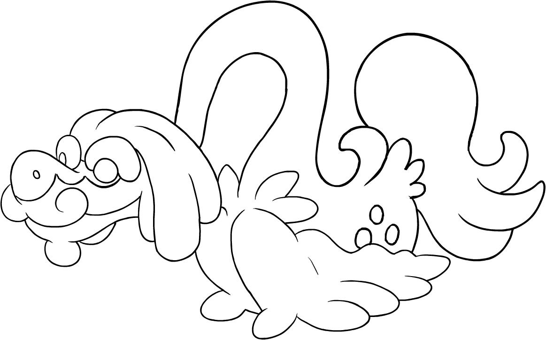 Disegno Di Drampa Dei Pokemon Sole E Luna Da Colorare