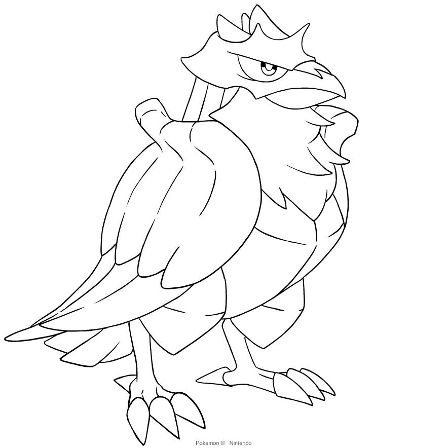 Disegno Di Corviknight Dei Pokemon Spada E Scudo Da Colorare