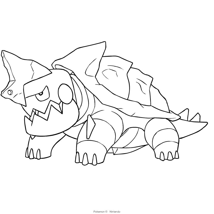 Disegno Drednaw Dei Pokemon Spada E Scudo Da Colorare