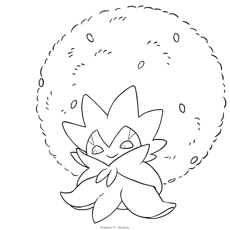 Disegno Eldegoss Dei Pokemon Spada E Scudo Da Colorare