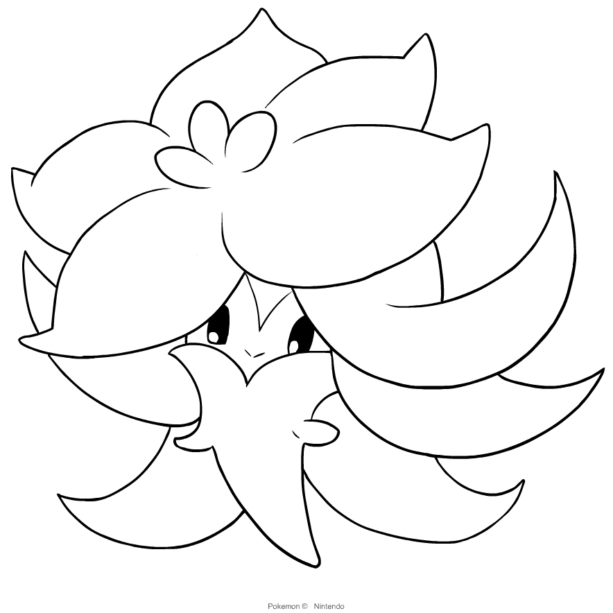 Gossifleur From Pokémon Sword And Shield Coloring Page