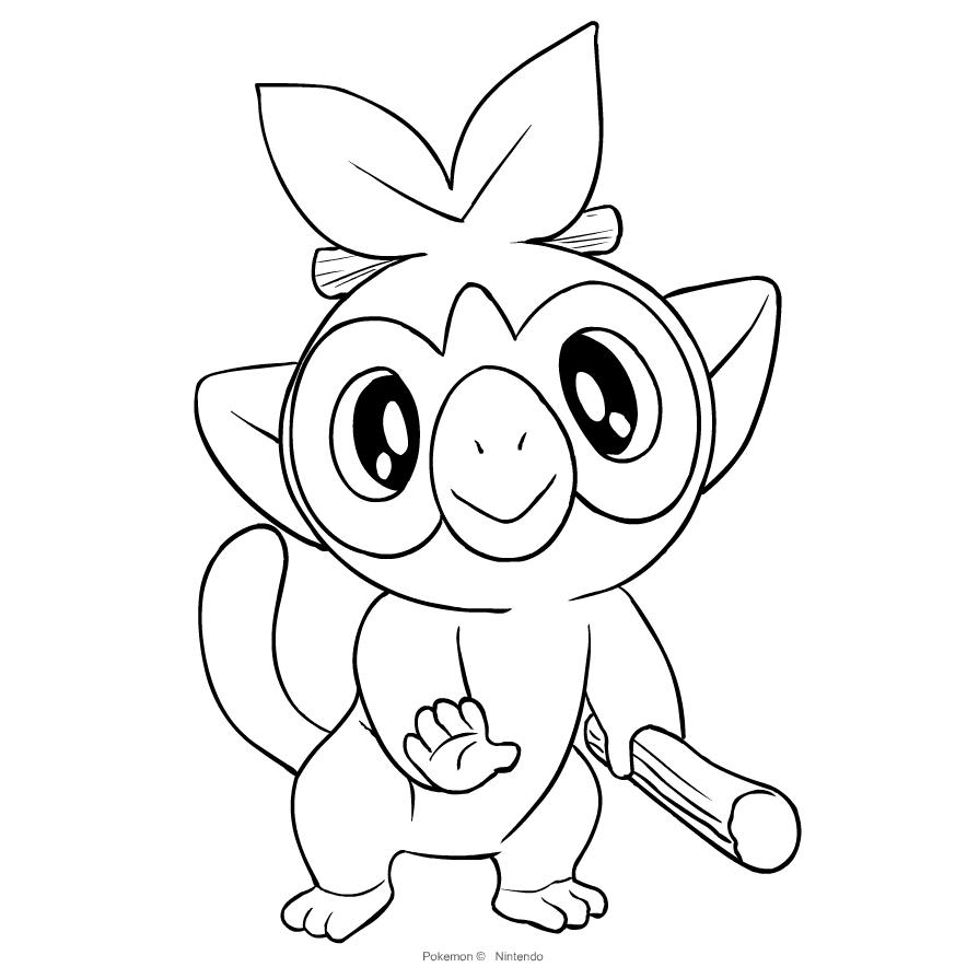 Disegno Di Grookey Dei Pokemon Spada E Scudo Da Colorare