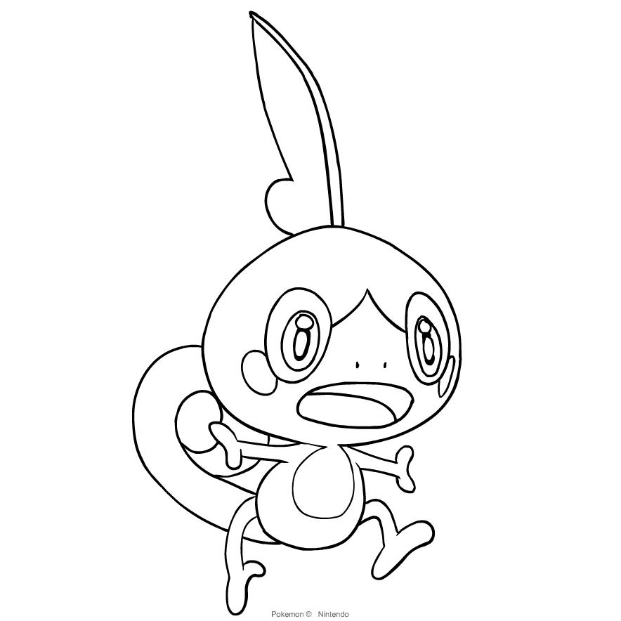 Coloriage De Sobble Du Pokemon Epee Et Bouclier