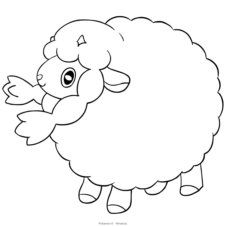 Wooloo From Pokemon Sword And Shield Coloring Page