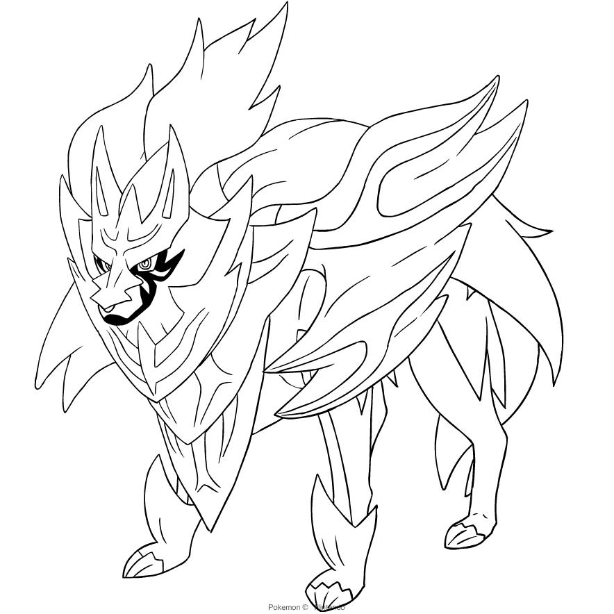 Disegno Zamazenta Dei Pokemon Spada E Scudo Da Colorare