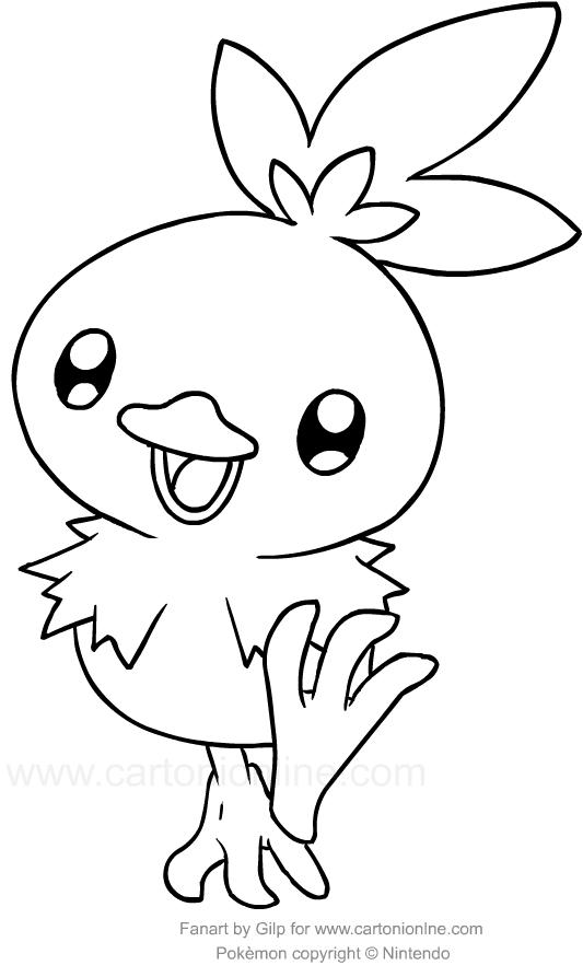 Disegno Torchic Dei Pokemon Colorare