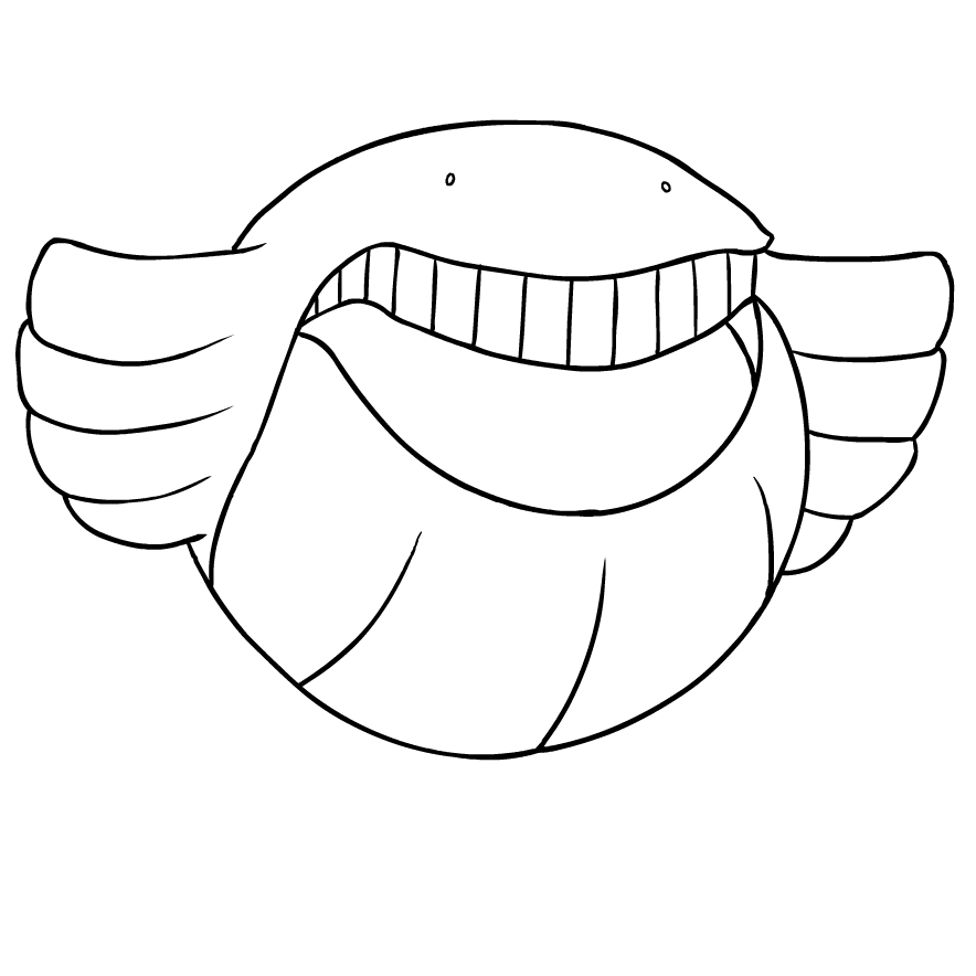 Wailmer From The Third Generation Of The Pokemon Coloring Page