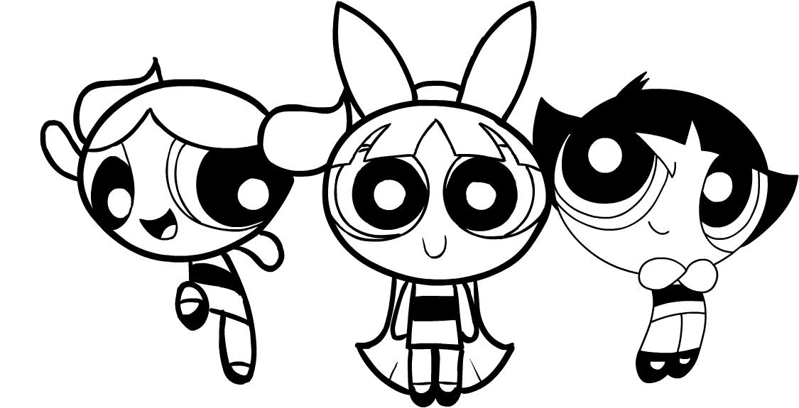 Dibujo de las Chicas Superpoderosas (Chicas Superpoderosas) para imprimir y colorear