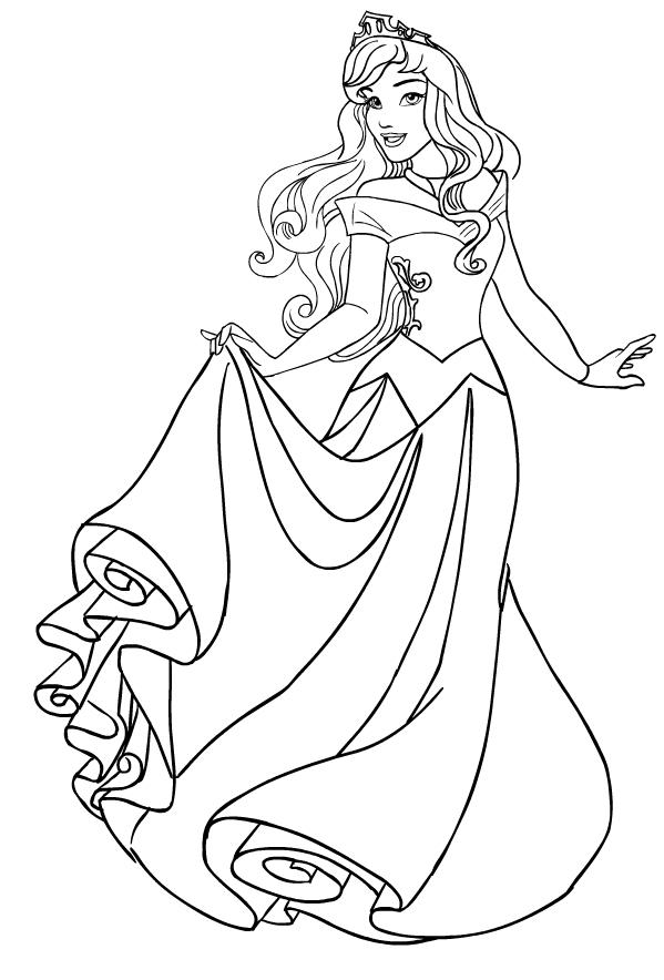 Disegno Della Principessa Aurora De La Bella E Addormentata Nel