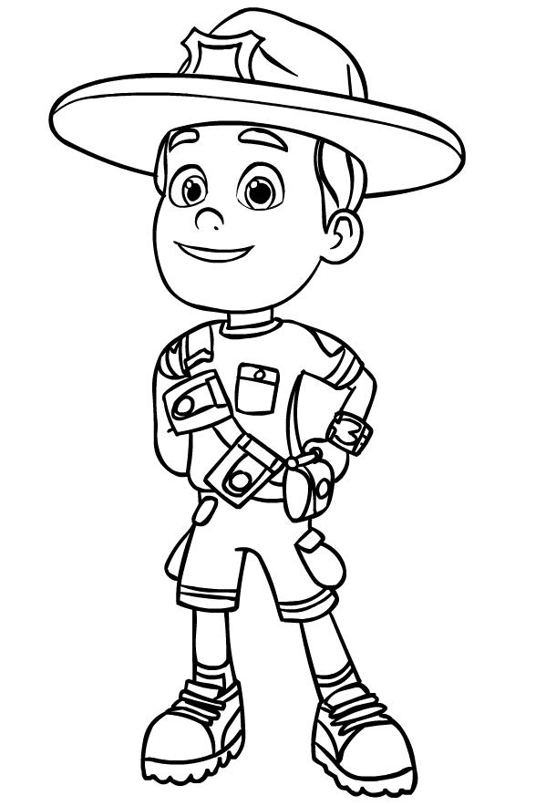 disegno di ranger rob da colorare