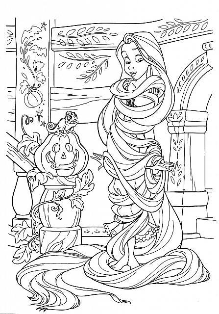 Disegni di rapunzel da colorare e stampare per bambine for Immagini di rapunzel da colorare