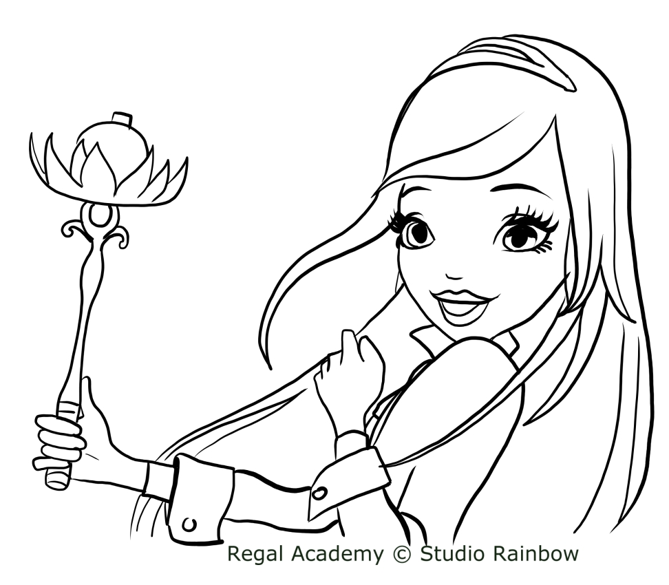 Disegni Da Colorare Regal Academy Of Disegno Di Rose Di Regal Academy Da Colorare