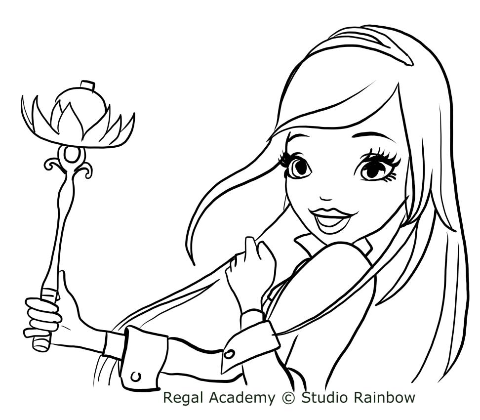 Disegno di Rose di Regal Academy da colorare