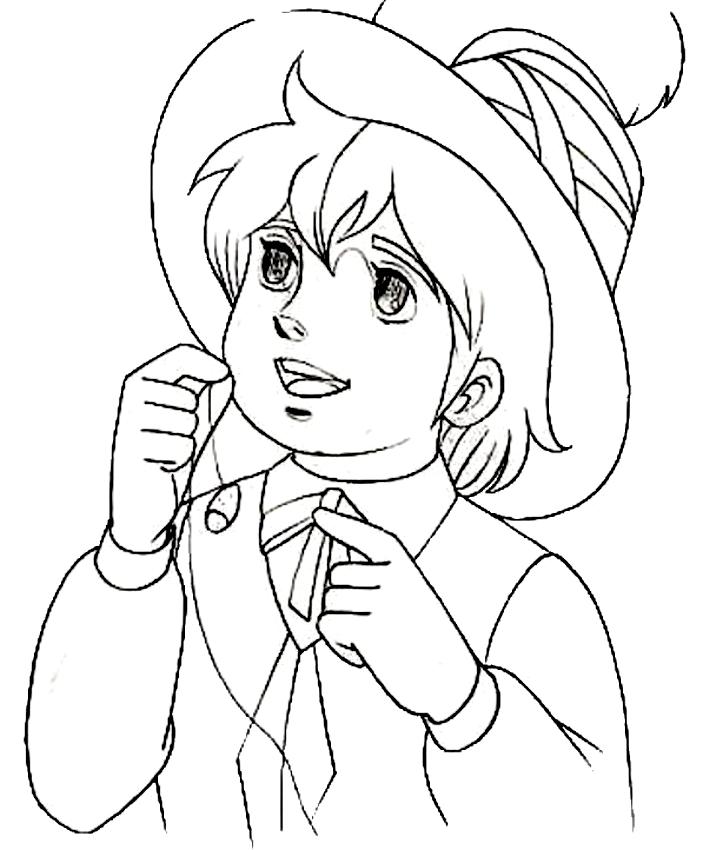 Desenho 3 de Remì para imprimir e colorir