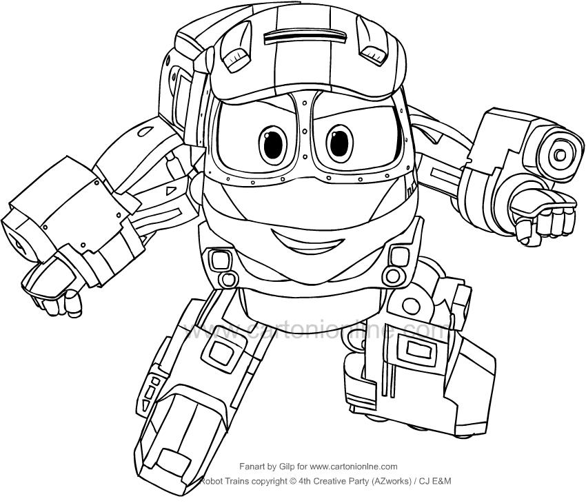 Disegno di Kay di Robot Trains da stampare e colorare