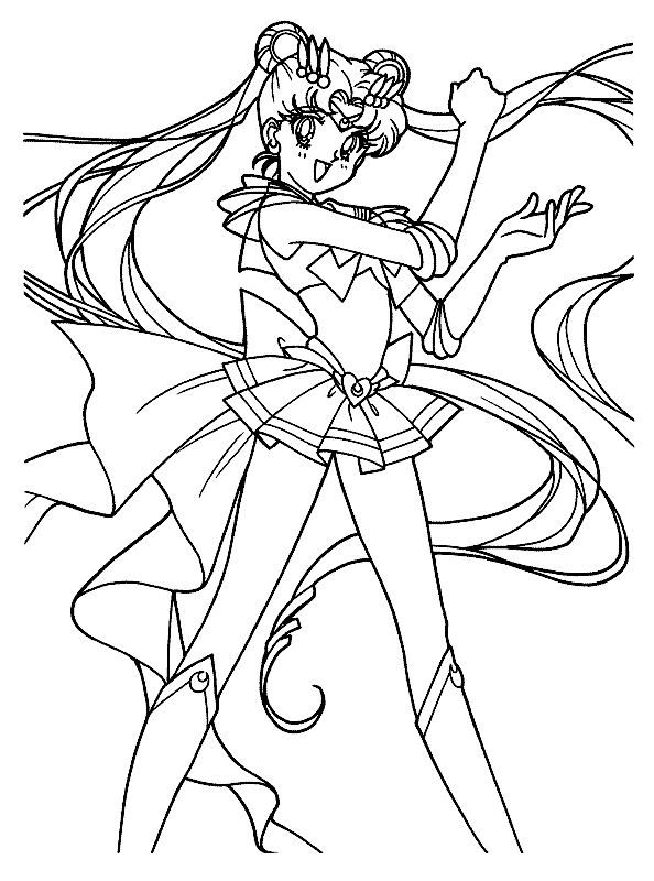 Free Printable Sailor Moon Coloring Pages For Kids | 800x594