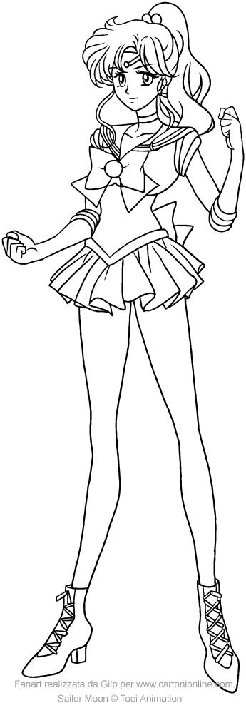 Dibujo de Sailor Jupiter Crystal para imprimir y pintar
